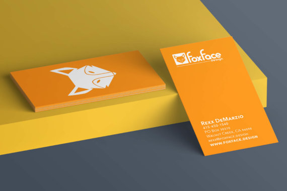 Foxface Design business cards